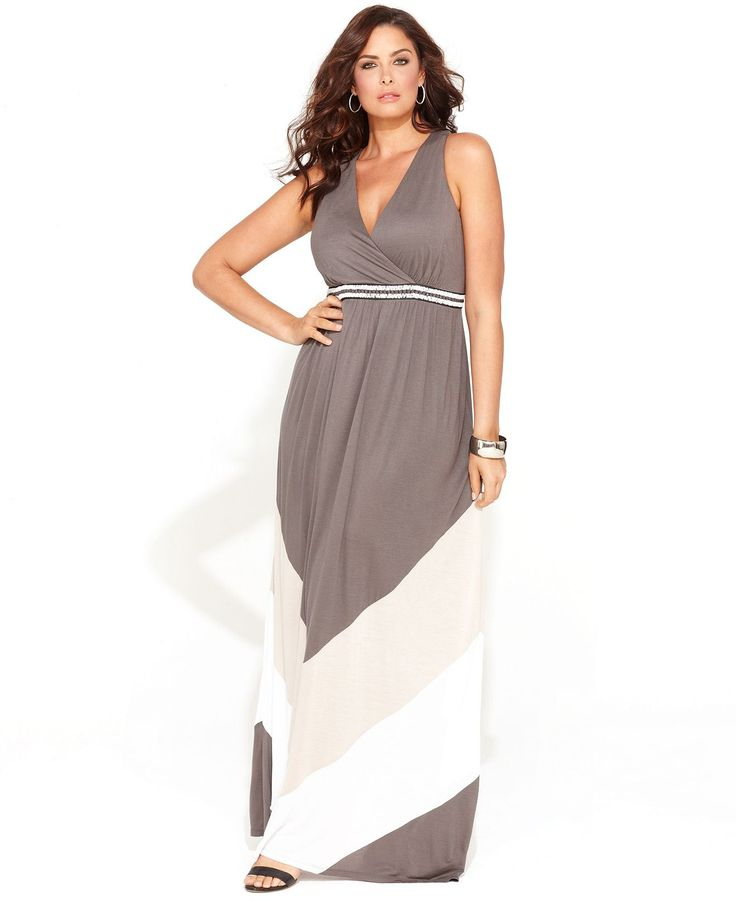 INC International Concepts Plus Size Dress blue fabric.....but make it a little shorter below knee length and add a wider band just under the bust.