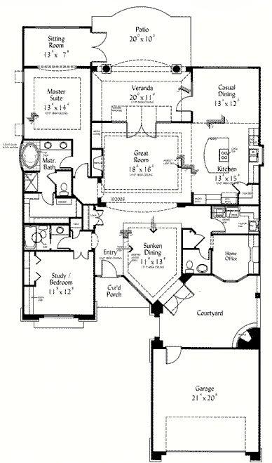 Best 25 retirement house plans ideas on pinterest for One story retirement house plans