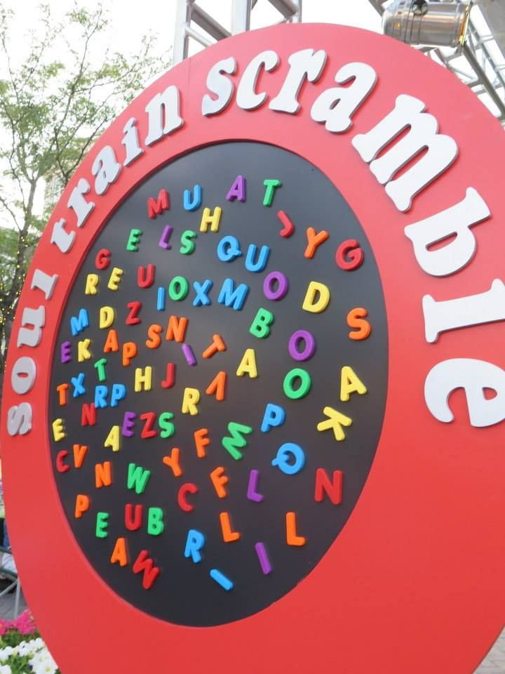 We created our very own #SoulTrain Scramble Board with the help of a very gifted carpenter!