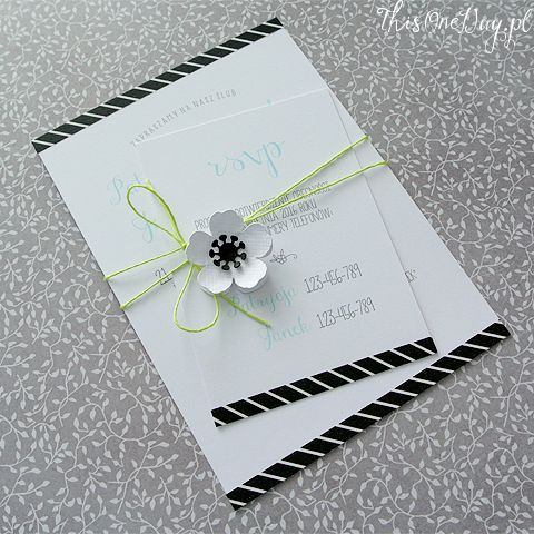 Wedding invitation - WHITE ANEMONE