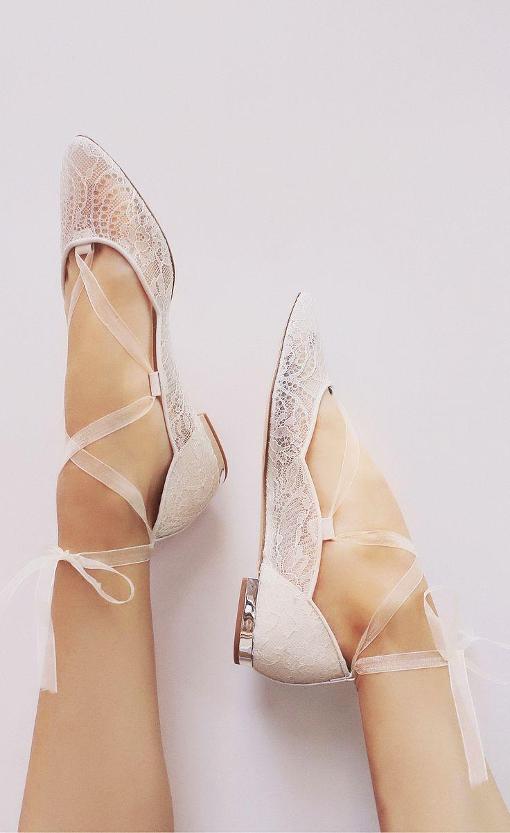 Lace ballet flats