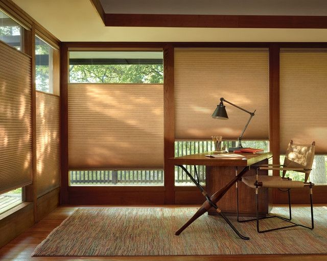 Duette Honeycomb Shades Craftsman Home Office Portland Inside Contemporary Window Blinds For Home