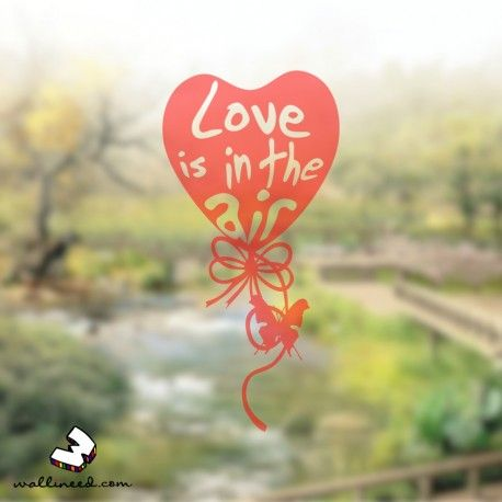 Love Is In The Air – Window Decal Translucent Decal wallineed.com
