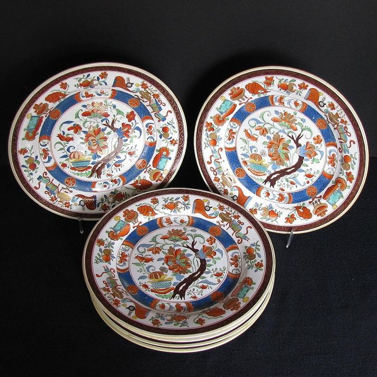 Antique  First Period  Minton Plates Set of Six Imari Colors & 94 best English Plates Antique 19th C images on Pinterest | Dishes ...