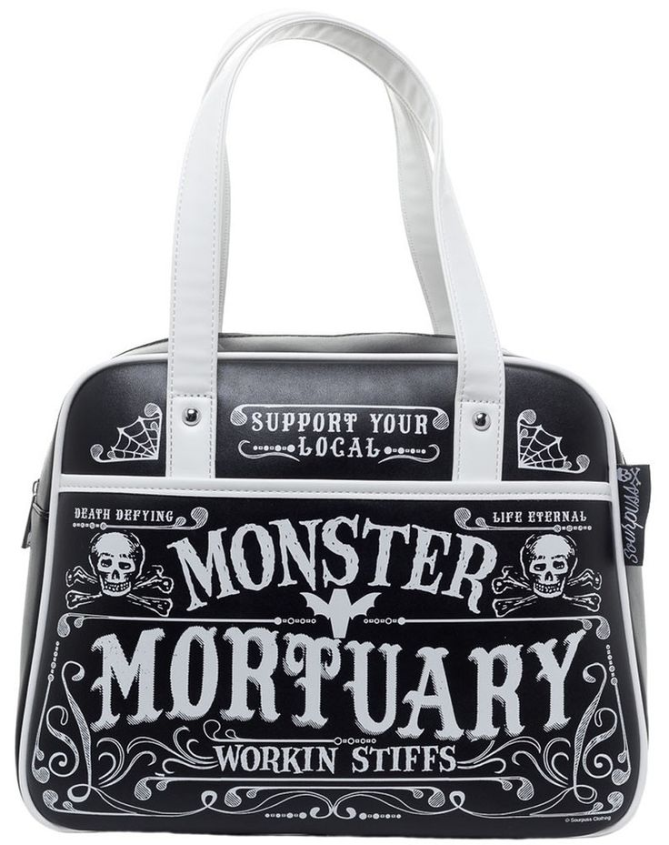Inked Boutique - Workin Stiffs Bowler Purse Monster Mortuary Skulls Goth Gothabilly Psychobilly http://www.inkedboutique.com