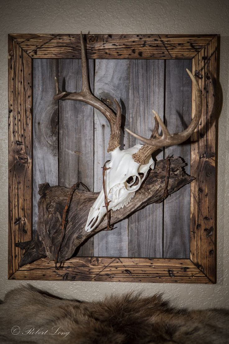 Deer skinning pole plans - My Second European Deer Mount That I Made To Match My Other One Like The First One I Made The Frame From New Wood That I Distress And Stained