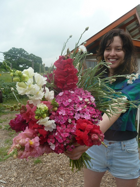 Edible Bouquet of Pink Snapdragons and Dianthus <3 Green Gate Farms <3 Austin, TX