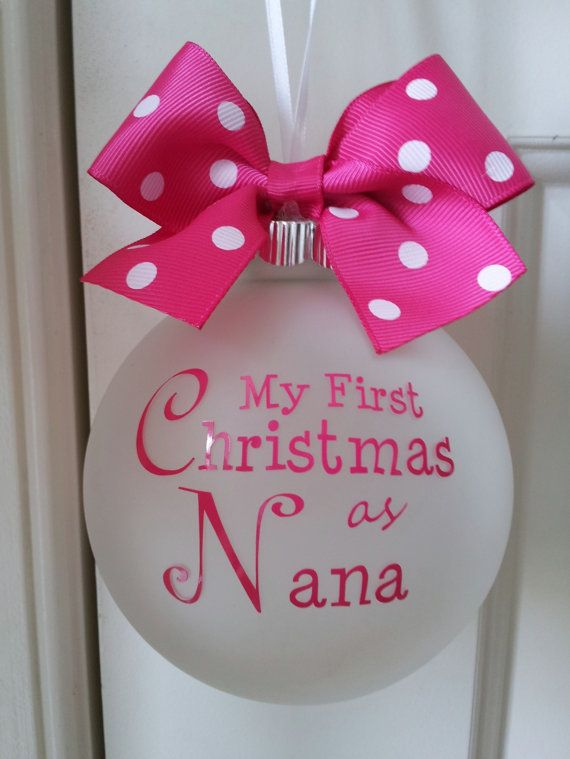 Custom Personalized First Christmas Ornament by LittleOnceBoutique, $14.00