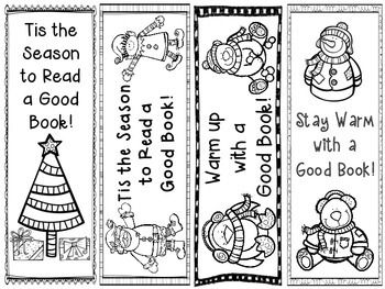 FREEBIE holiday bookmarks. I'm going to have my first graders make these for their 4th grade book buddies. :-)
