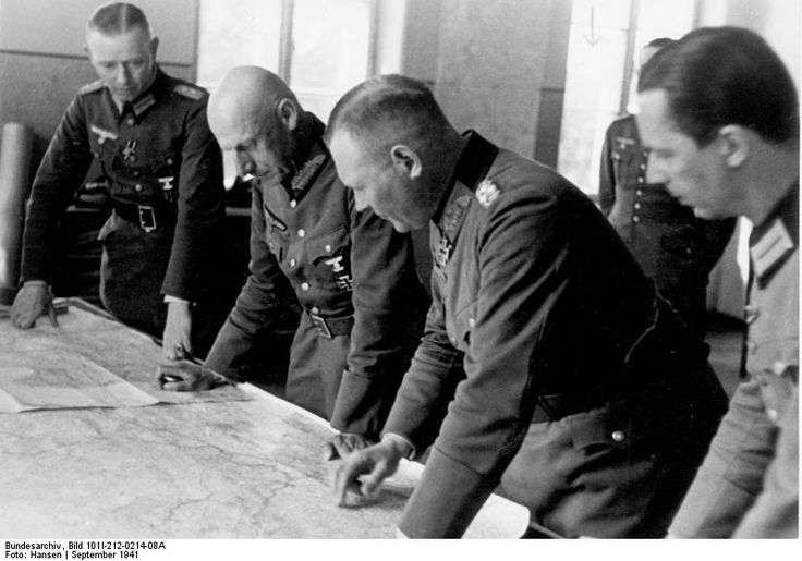 Field Marshall von Leeb and General Erich Hoepner, Army Group North Soviet Union September 1941.