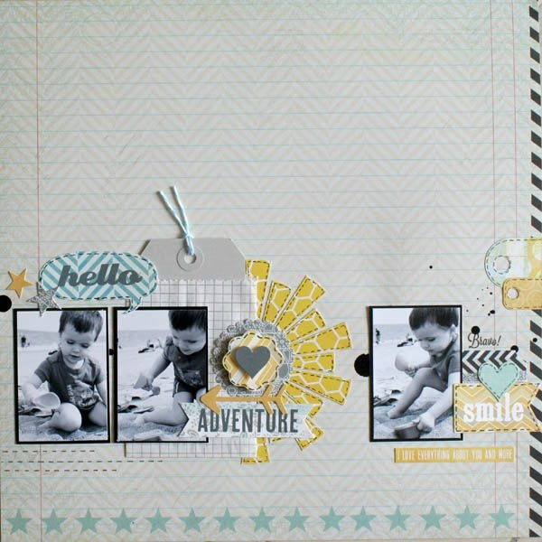 hello Digital Scrapbooking Layout Inspiration                                                                                                                                                                                 Plus