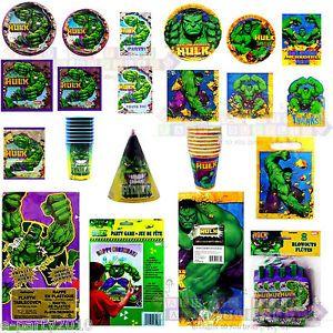 The Incredible Hulk Super Hero Birthday Party Supplies Pick 1 or Create Set | eBay