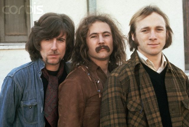 Crosby, Stills, and Nash. Steve Stills is an awesome guitarist, and have your heard their perfect harmony?? Suite: Judy Blue Eyes, anyone? Or Wooden Ships perhaps?