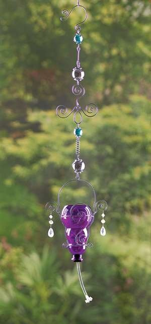 Glass Hummingbird Feeder