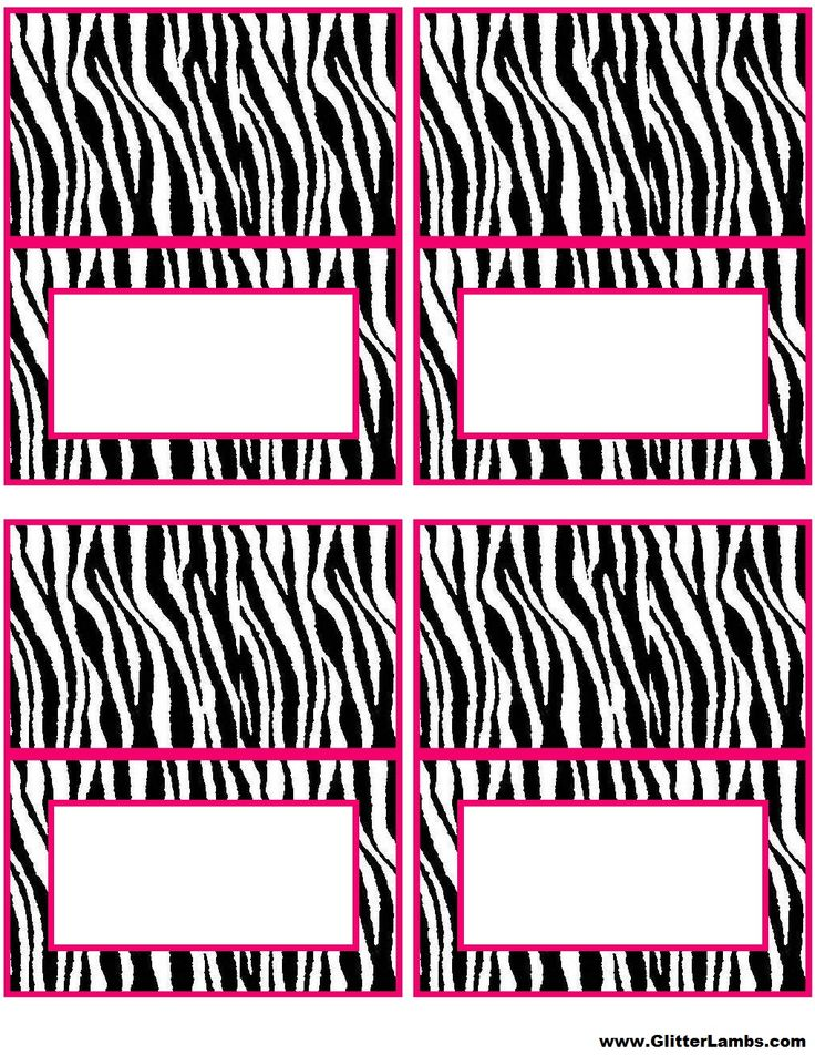 104 best zebra theme high school classroom images on pinterest glitter lambs pink zebra food label cards and free printable cupcake topper templates for a toneelgroepblik Gallery