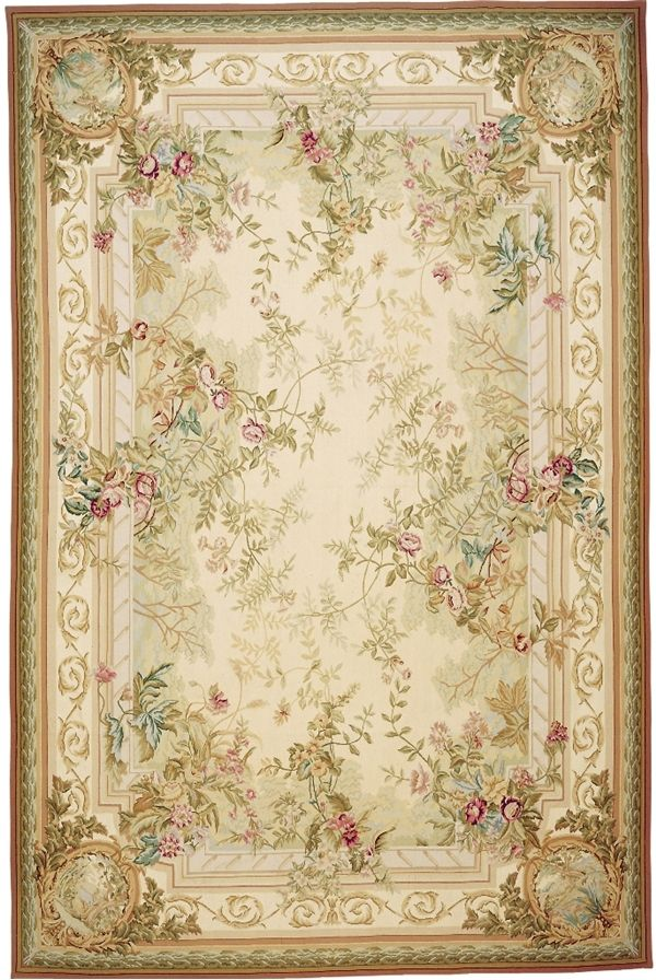 Superb Rosemont Aubusson Rug 5110CG. Based On An Original Asmara Painting By  Elizabeth Moisan Inspired By