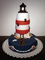 Leuchtturmkuchen, Fondant, lighthouse, meine erste Hochzeitstorte