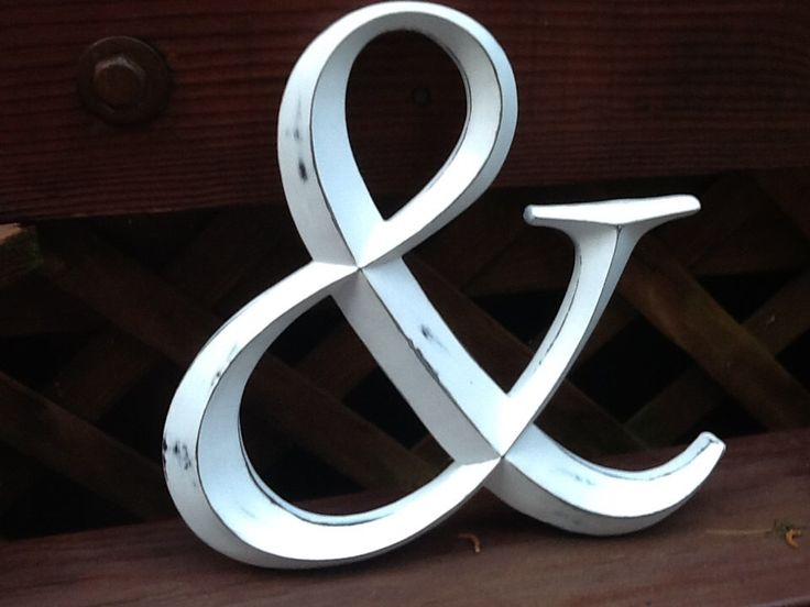 Rustic Ampersand Sign Distressed Large White Ampersand Symbol Wedding Photo Prop by ShabbyGoesChic on Etsy https://www.etsy.com/listing/153365633/rustic-ampersand-sign-distressed-large