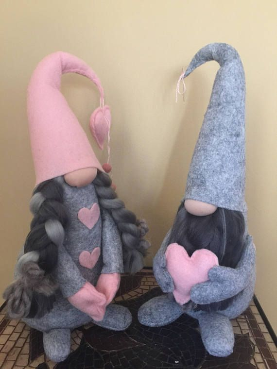 LISTING: IS FOR ONE - Valentines Day Gnome Set including 2 gnomes. The Gnomes is approx. 11 inches tall. Choose your Favorite Color/s at Checkout. If You Would Like Multiple Colors Please Leave A Note in the Order Description. These Gnomes are VERY soft and made with 100% wool.