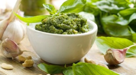 Excellent and easy recipe for organic pesto spreadBlue Chees, Food, Basilpesto, Dairy Free, Gluten Free Cooking, Pesto Recipe, Skirts Steak, Cottages Chees, Basil Pesto