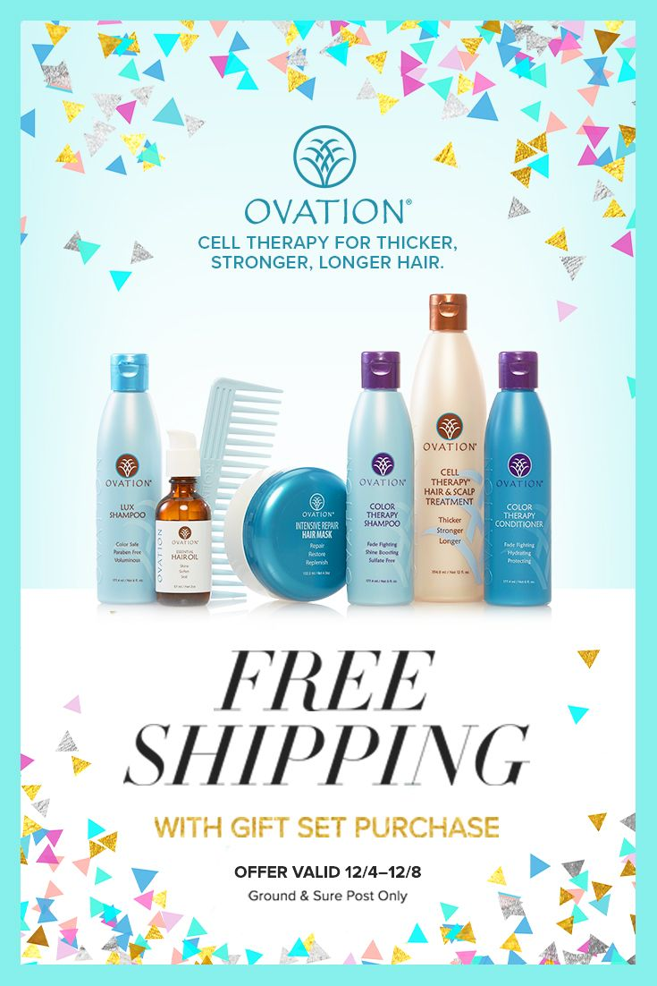 Psst! With only three weeks left to find the perfect holiday gift Ovation is here to help. Give the gift of beautiful hair, and take advantage of our FREE shipping week! Order any gift set before December 8th and they ship free!