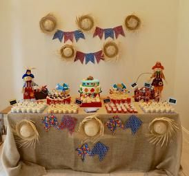 festa junina #mesadebolo #mesadefestajunina #decoracaofestajunina