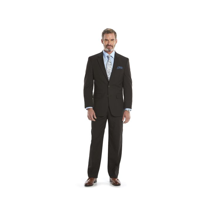 Men's Croft & Barrow Classic-Fit Unhemmed Suit, Size: 48R 42, Brown