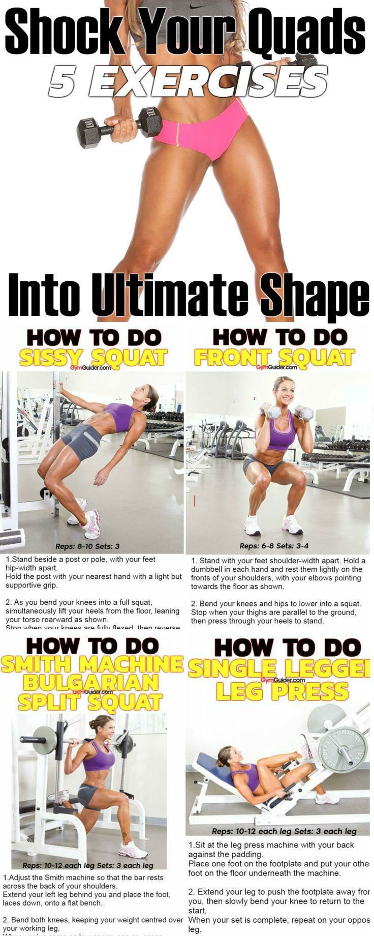 Leg Exercises For Women That Include Barbell Squats Romanian Deadlifts Walking Lunges Leg Press Barbell Hip Thr Leg Workout Women Barbell Squat Leg Workout