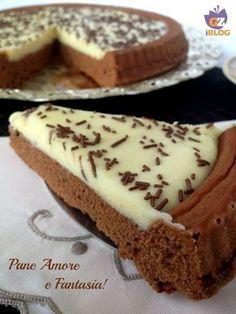 crostata al cacao con crema cioccolato bianco PaneAmoreFantasia