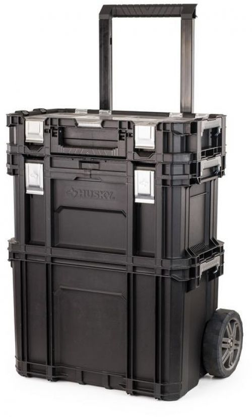 Husky 22 In. Connect Rolling System Portable Tool Box Storage Organizer Cart #Husky