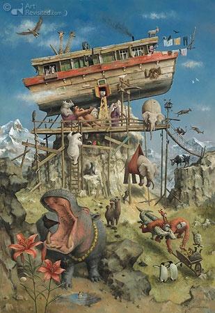 De Ark van Noach | Marius van Dokkum - Art Revisited