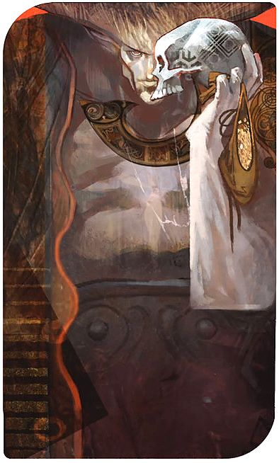 Dragon Age: Inquisition character tarot cards - The Iron Bull
