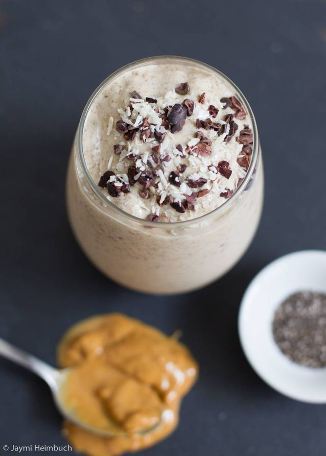 This recipe takes a deliciously decadent banana-peanut butter blend and adds in a hearty dose of extra vitamins and phytonutrients thanks to a handful of dried cranberries.