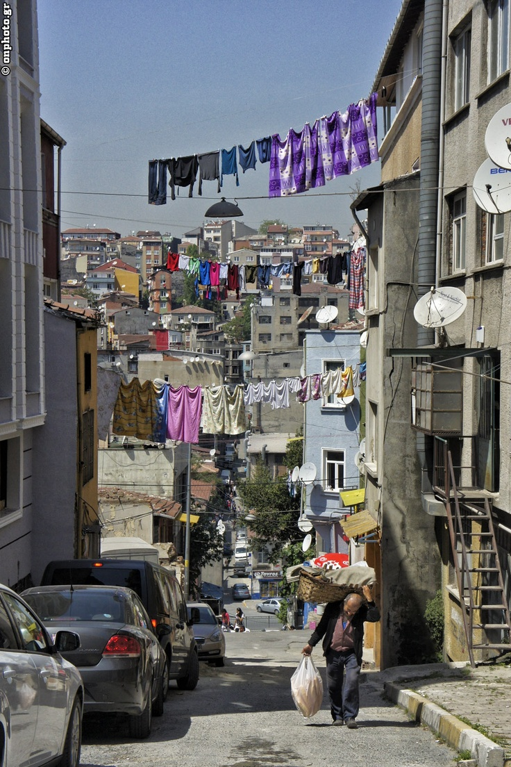 Clothes, streets, houses, buildings, people, Europe and East... Combined and mixed! Istanbul...