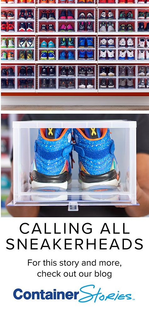 SNEAKERHEAD STORAGE IDEAS See how this shoe collector cleans, protects and stores all of her favorite sneakers.