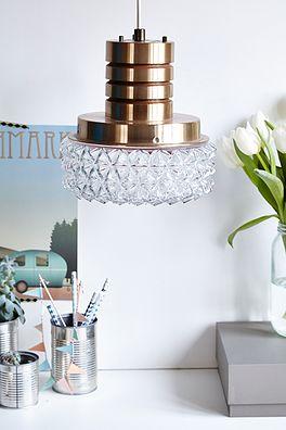 Messing lampe - 400kr. Køb den på www.loppedesign.dk