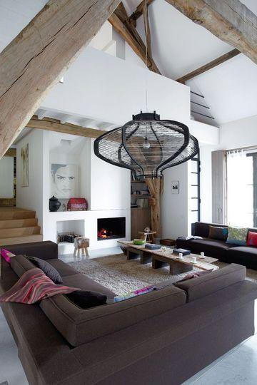 Un large salon pour un loft sans complexe - 44 photos pour trouver l'ambiance de son salon - CôtéMaison.fr