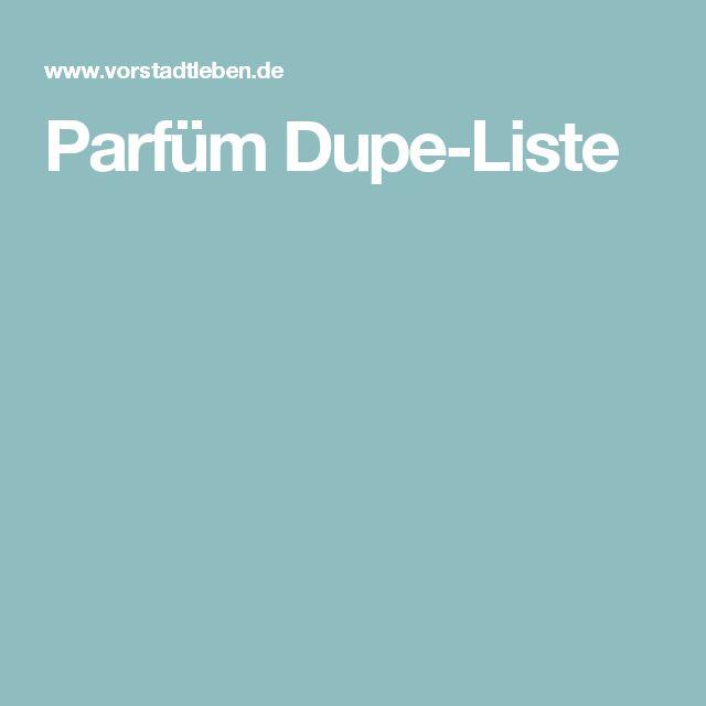 Parfüm Dupe-Liste