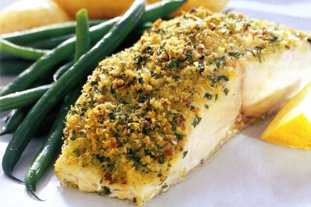 Parmesan-Crumbed Baked Fish - Stuck for a healthy dinner idea? This parmesan-crumbed baked fish will make weeknight dinners a breeze.