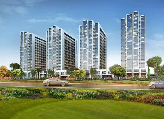 Internation golf fscing apartment in dubai by damac properties in master development of akoya oxygen