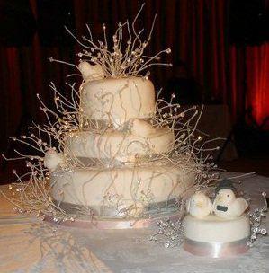 Love Bird Crystal Cake