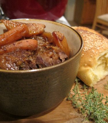 Pot Roast in Dutch Oven. Slow Cooked