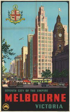 Seventh city of the Empire - Melbourne, Victoria [picture] / Percy Trompf., State Library of Victoria