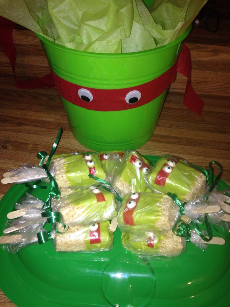 Ninja Turtle Rice Krispie treats
