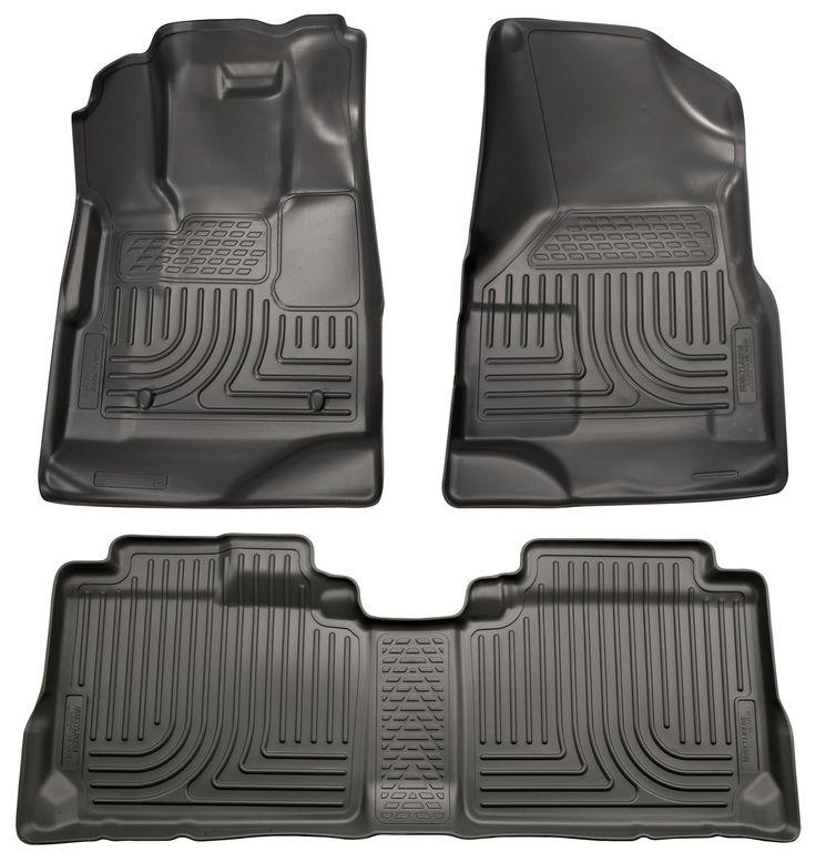 98131 Husky Liners WeatherBeater Front & 2nd Seat Floor Liners Fitment 2010-2015 Chevy Equinox, GMC Terrain