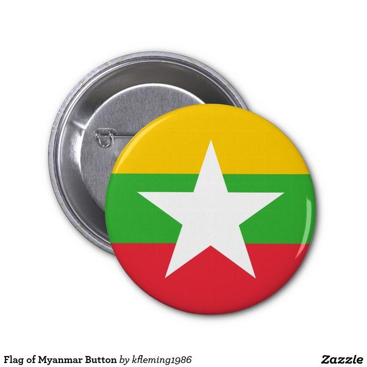 Flag of Myanmar Button