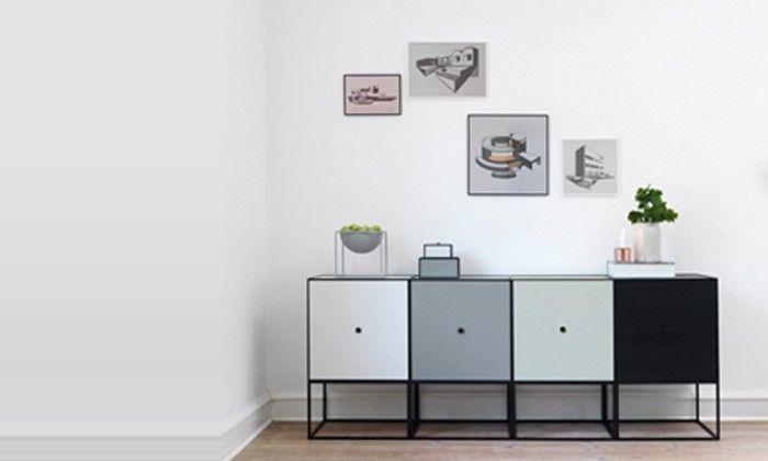 Frame cube de rangement design à utiliser en buffet. Meuble scandinave et enfilade danoise By Lassen: Le Studio des Collections