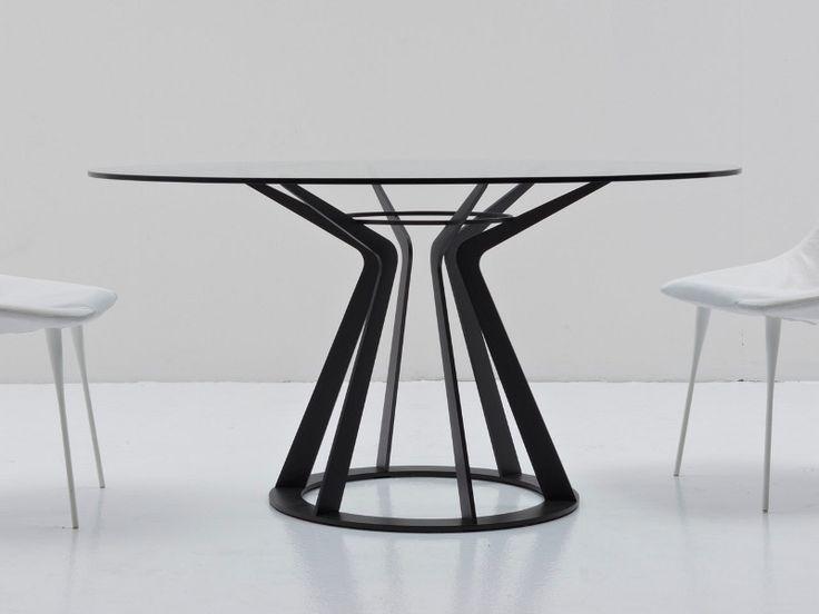 Round crystal table MITOS - Nube Italia