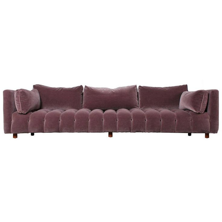 Curved Sofa By Harvey Probber In Mohair   Man I Love This Sofa!