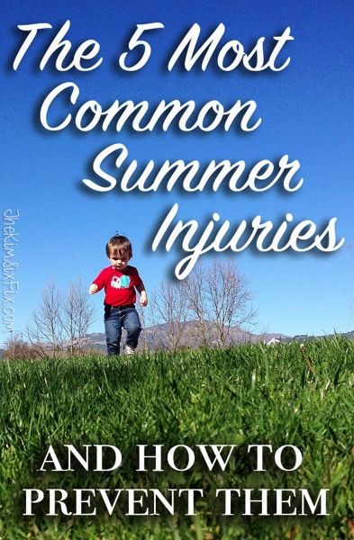 The 5 Most Common Summer Injuries in Children and How to Prevent Them.  Great tips for keeping your kids safe during the summer months.  via www.TheKimSixFix.com  SafeSummer ad